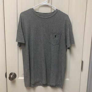 Men's POLO Medium Gray Speckled  T-Shirt